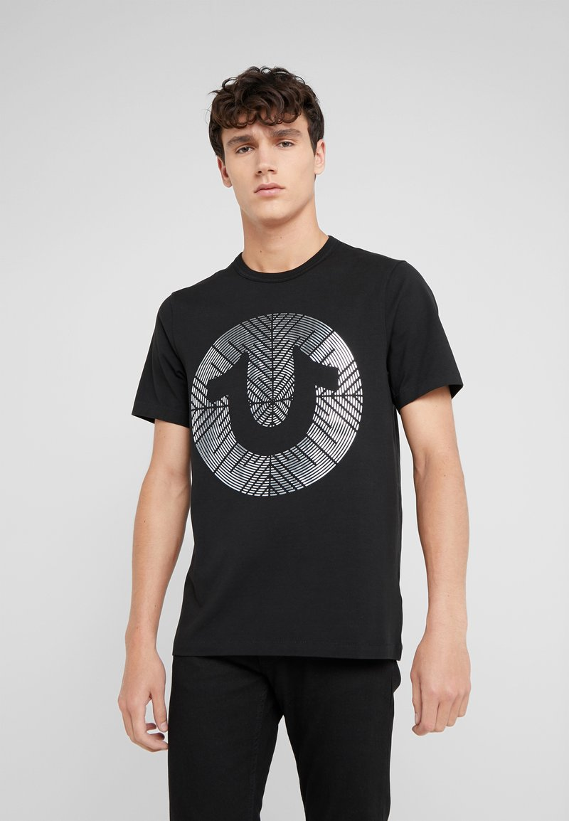 True Religion - RAISED METALLIC PRINT TEE - T-Shirt print - black