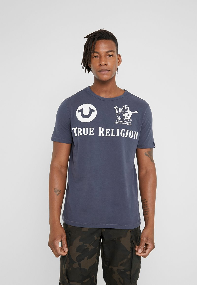 True Religion - CREW - T-shirts med print - dress blue