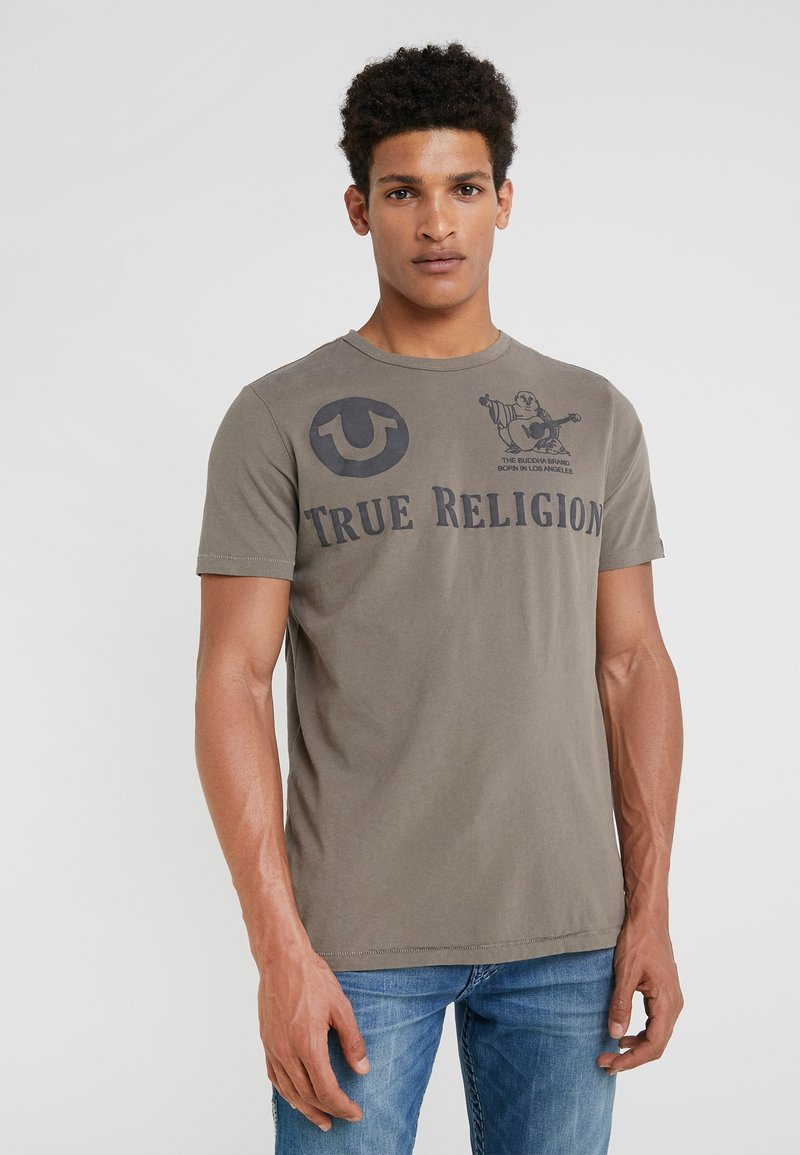 True Religion - CREW - T-Shirt print - dusty olive