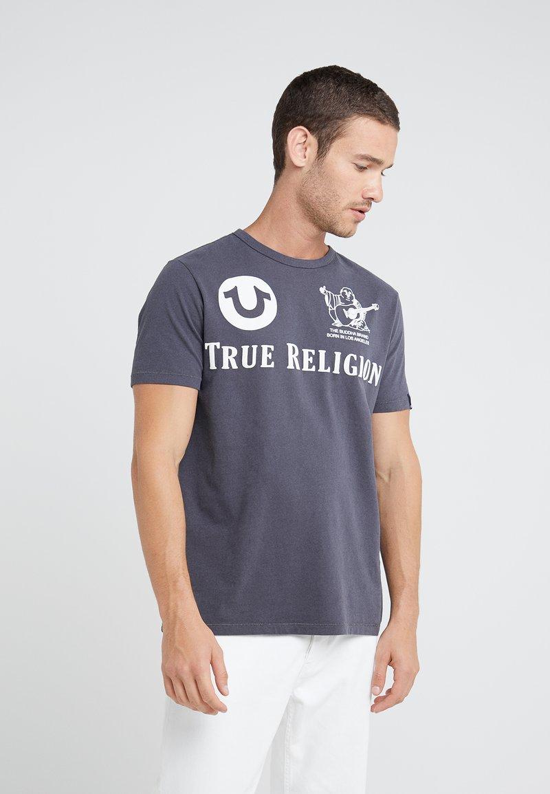 True Religion - CREW - Print T-shirt - ebony