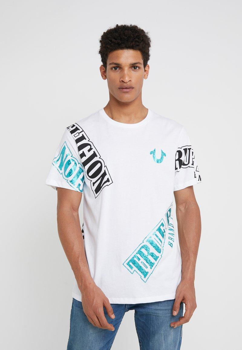 True Religion - TRUE VERB TEE - T-Shirt print - white