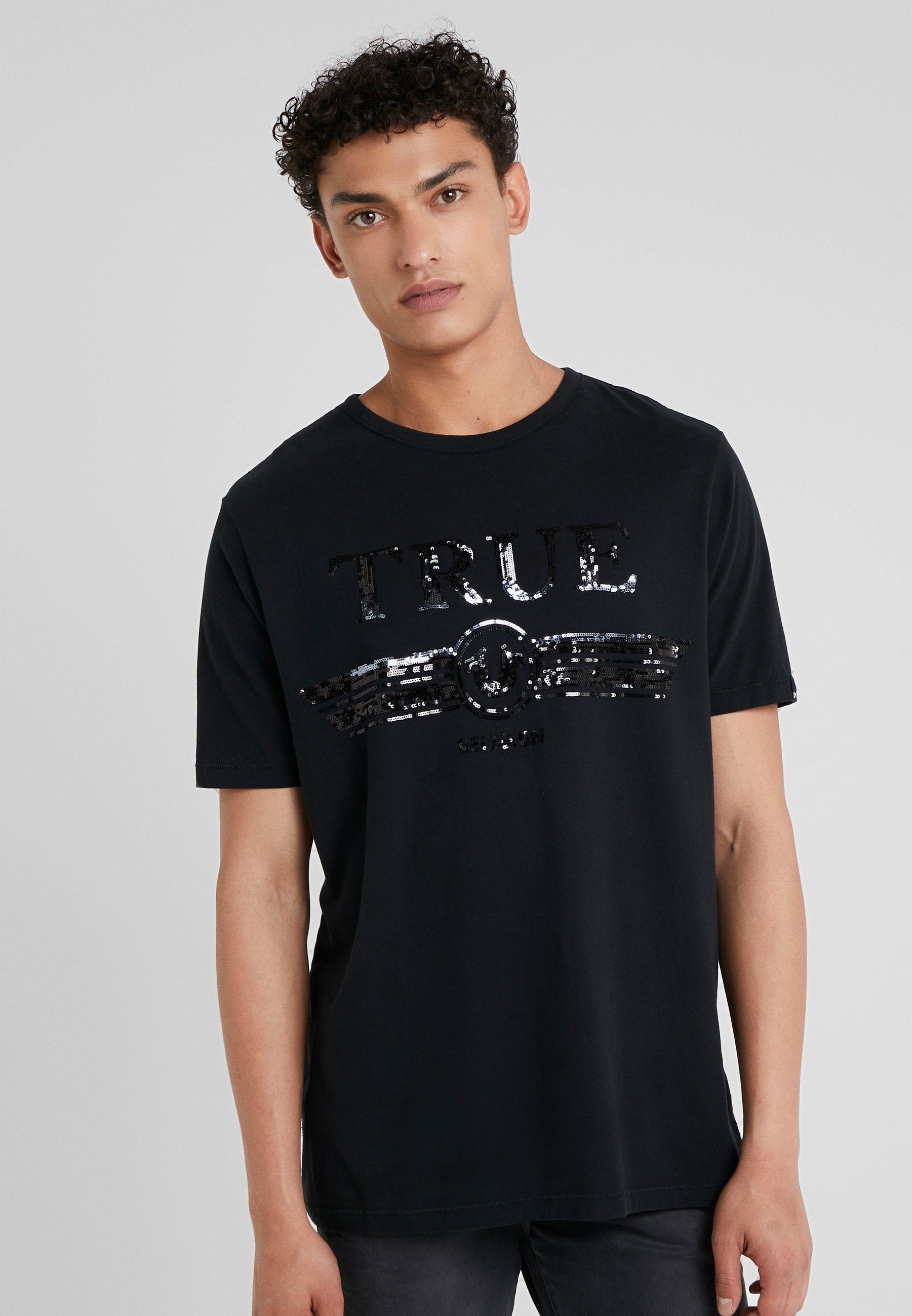 Religion Imprimé EmbroyderyT Black True shirt Trucci fv76IbgYy
