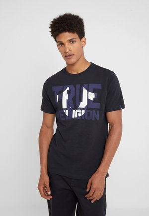 CREW BLOCK - T-shirts med print - black