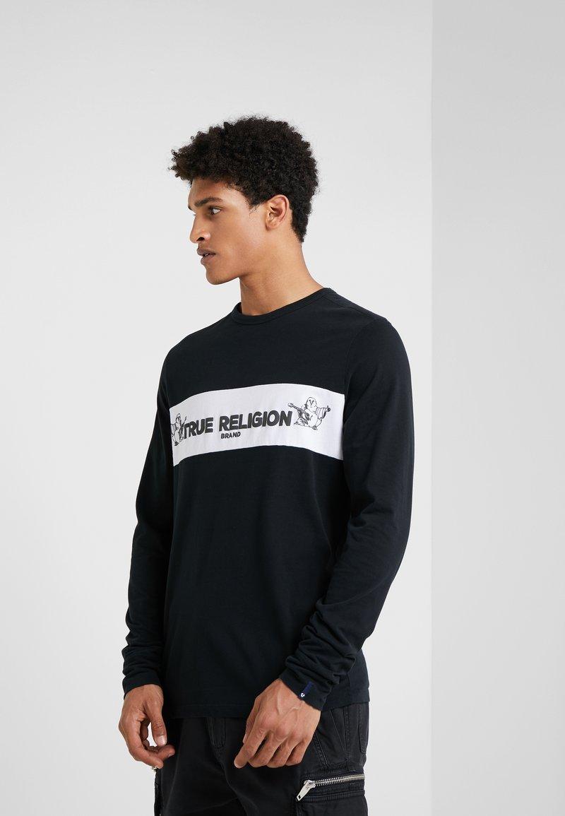 True Religion - CREW  - Top sdlouhým rukávem - black
