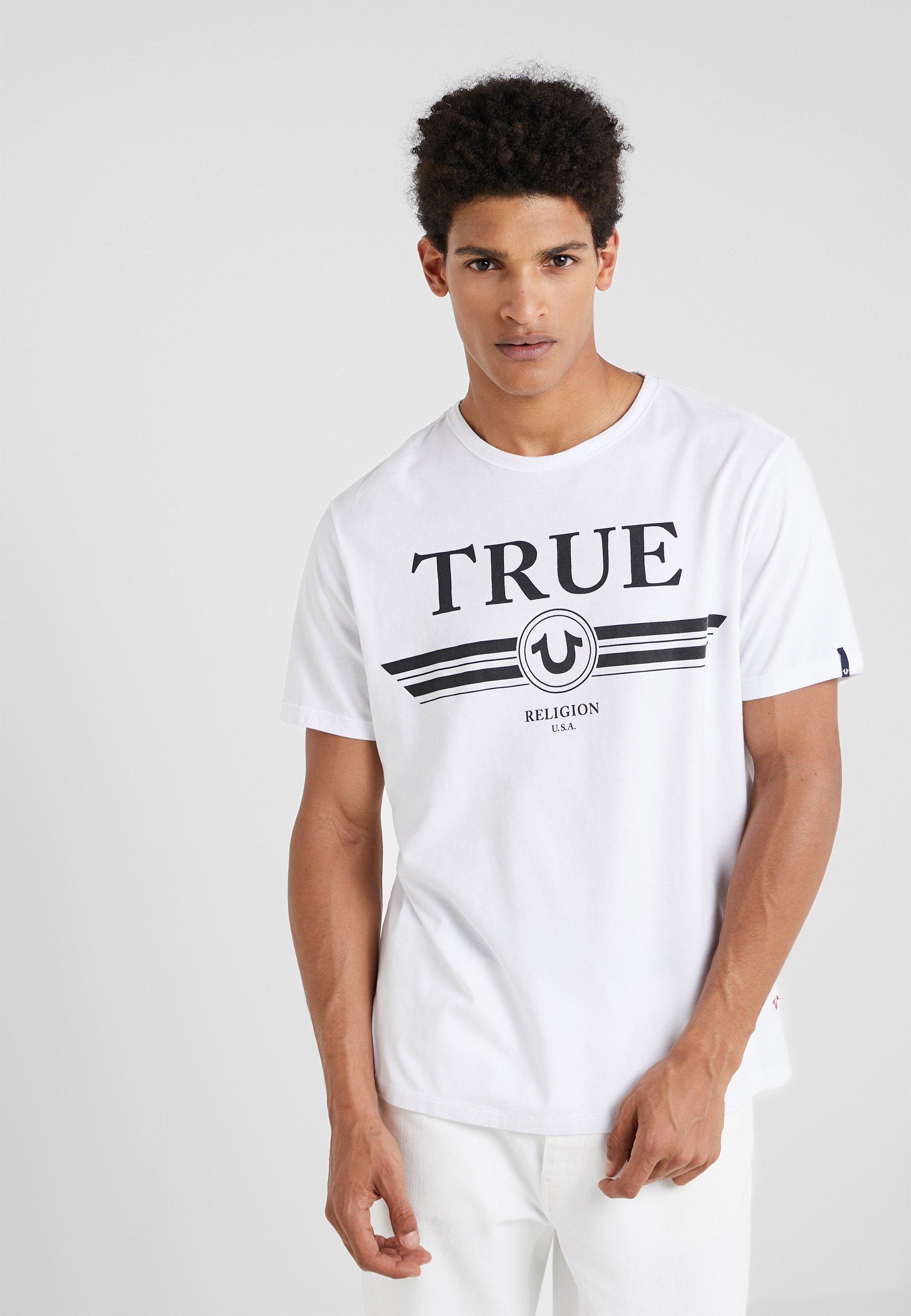 True TrucciT White Religion shirt Imprimé Basic kXPn0O8w
