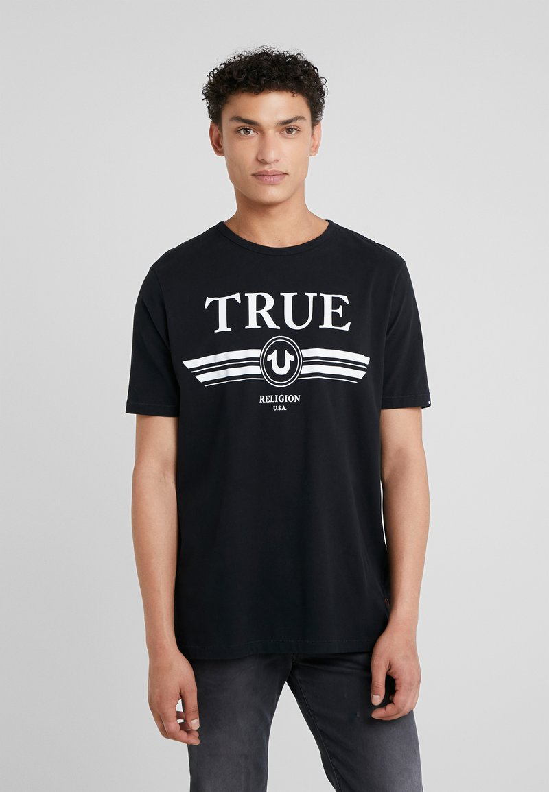 True Religion - BASIC TRUCCI - Triko spotiskem - black