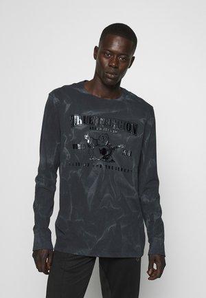 CREW NECK SEASONAL BUDDHA - Top sdlouhým rukávem - black