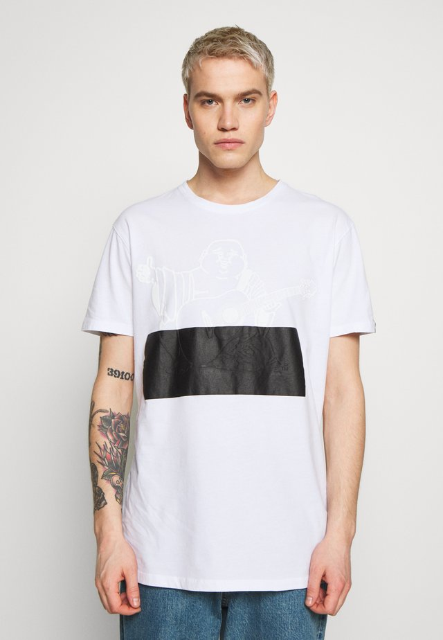 CREWNECK BUDDA EMBOSSED - Print T-shirt - white