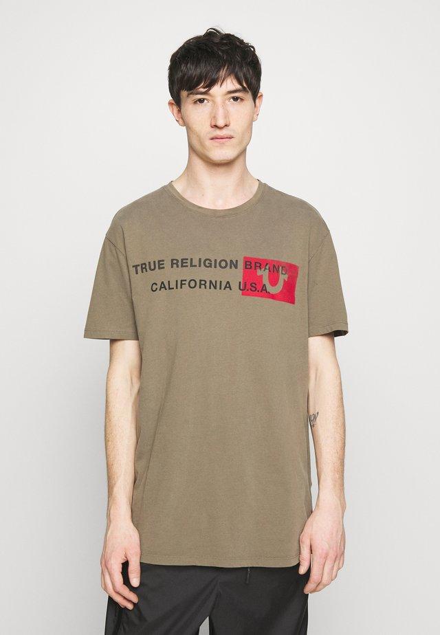 CREWNECK CALIFORNIA - Print T-shirt - olive