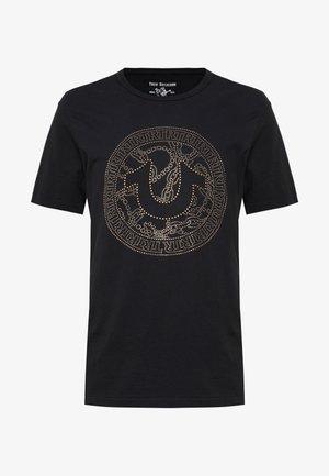 CREW NECK BRANDED - Camiseta estampada - black