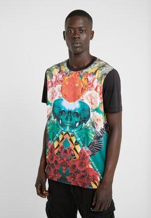 SKULL FLOWER TEE - T-shirts med print - multicolor