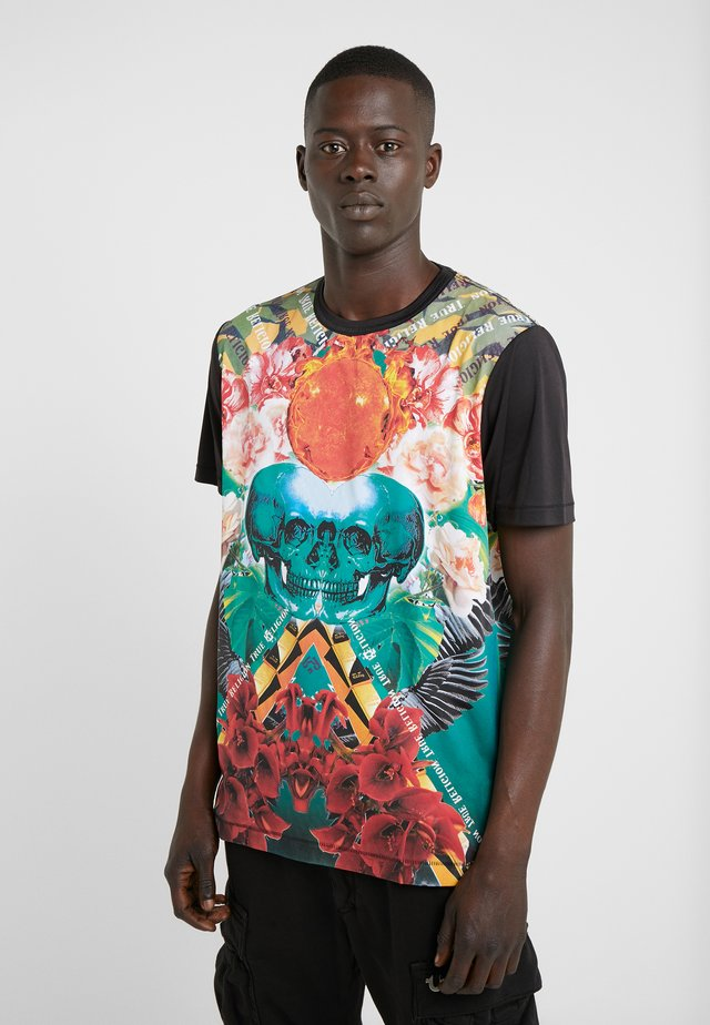 SKULL FLOWER TEE - T-shirt med print - multicolor