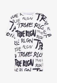 True Religion - ALL OVER BRANDED TEE WHITE - Triko spotiskem - white - 3