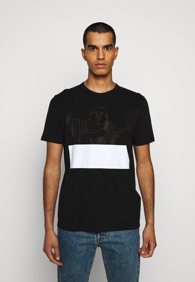 CREW BUDDHA BLOCK - Print T-shirt - black