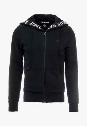 HOODED ZIP CONTRAST - Hettejakke - black