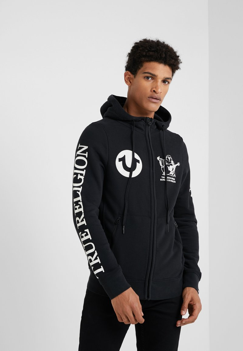 True Religion - HOODED ZIP - Sweatjacke - black