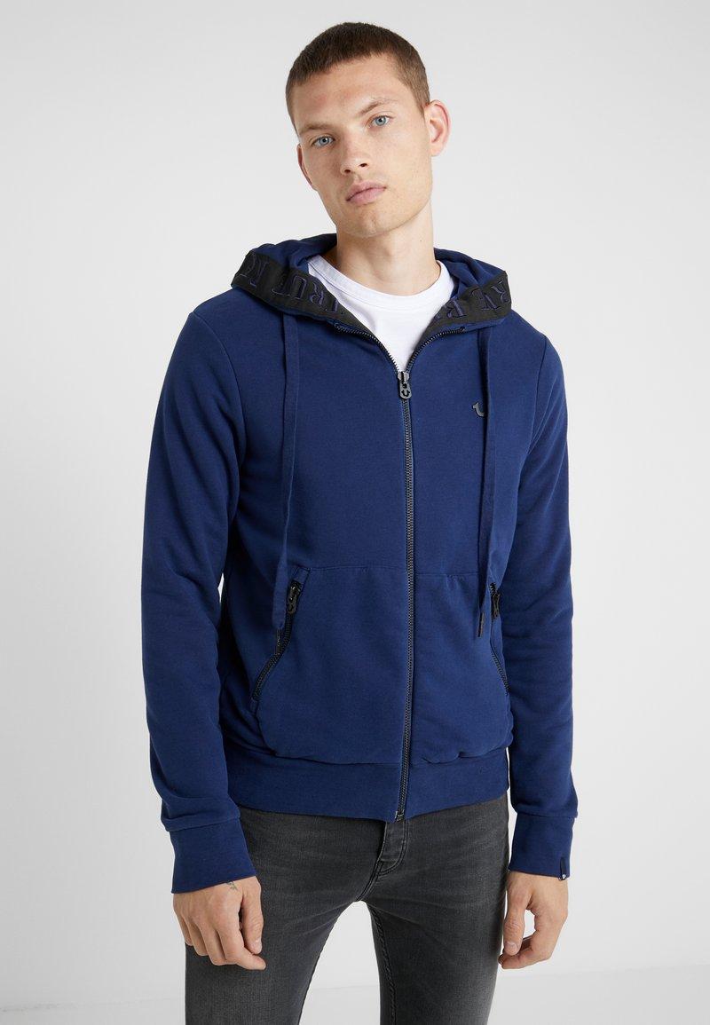 True Religion - HOODED JACKET TRUE TAPE - Zip-up hoodie - navy