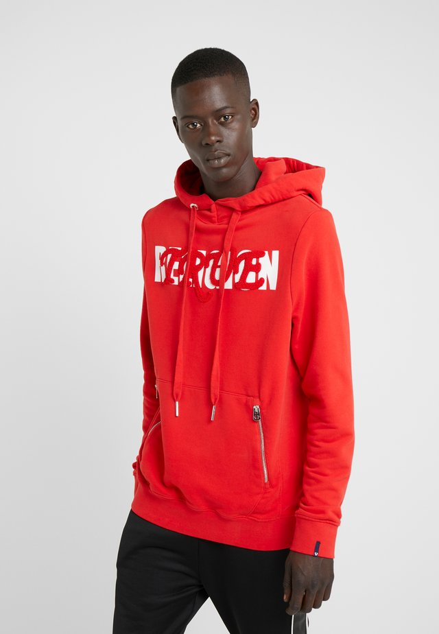 HOODY BASEBALL EMBRO WITH PRINT - Hoodie - red