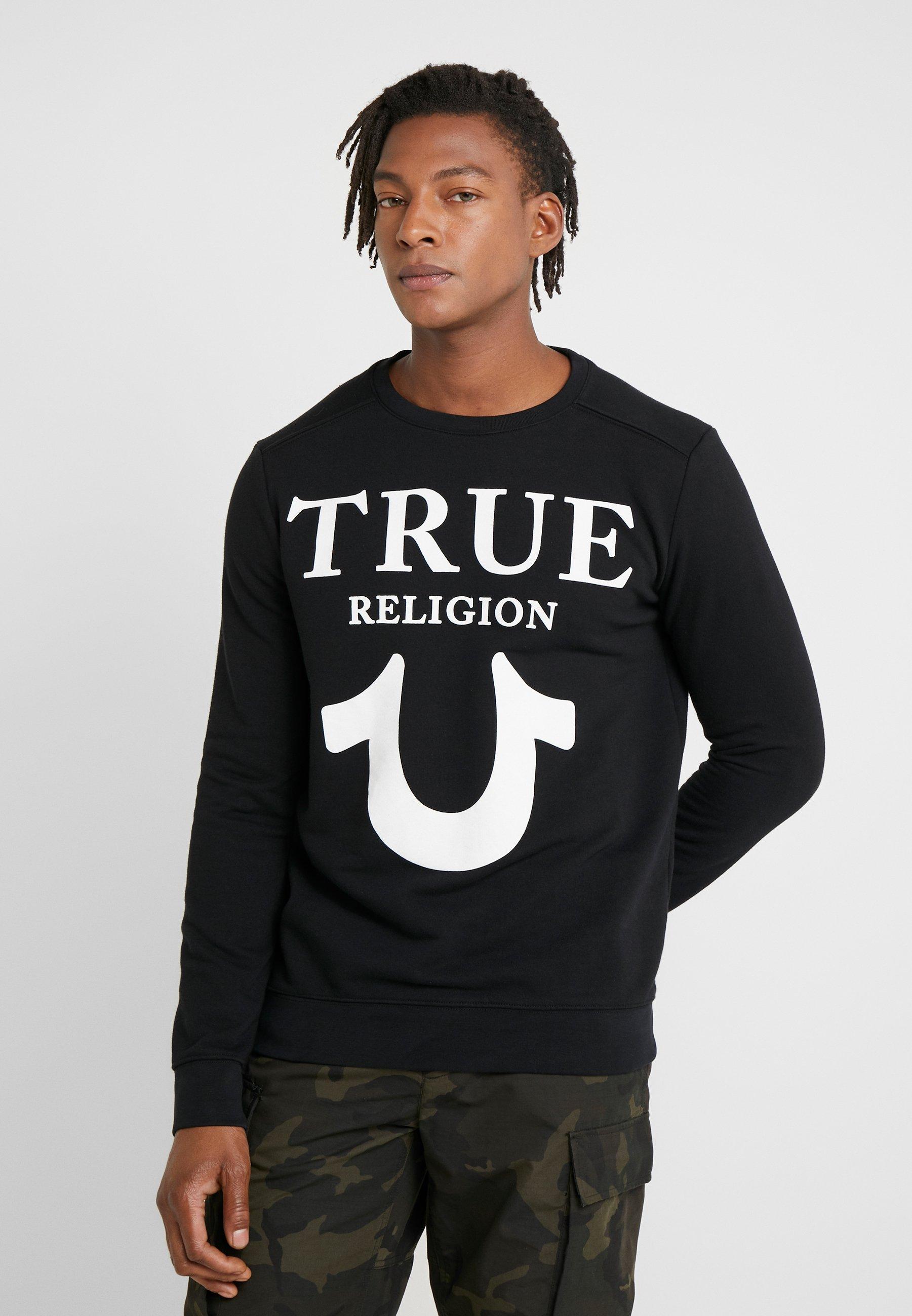 True Religion CREW LOGO PUFFY - Bluza - black