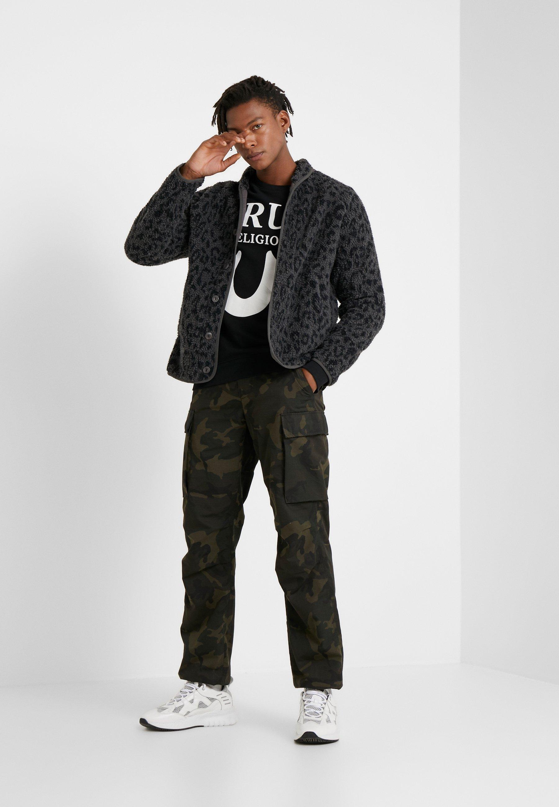 True Religion Crew Logo Puffy - Sweatshirt Black