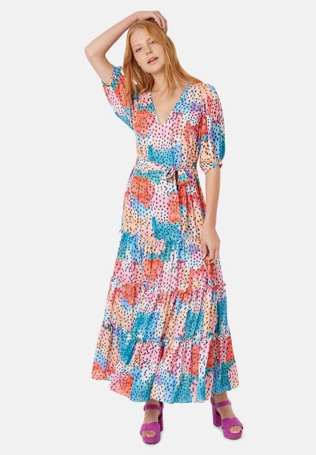 MIT V-AUSSCHNITT & PRINT - MEHRFARBIG - Długa sukienka - multi coloured