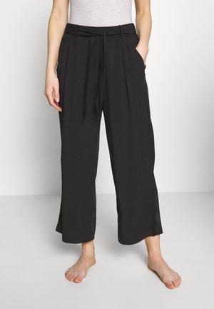 MIX & MATCH HIGH WAIST CROPPED TROUSERS - Pyžamový spodní díl - black
