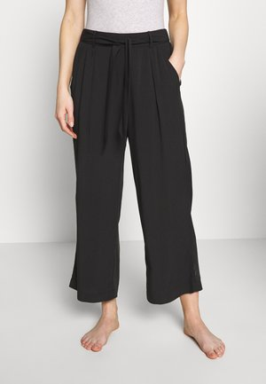 MIX & MATCH HIGH WAIST CROPPED TROUSERS - Pyjama bottoms - black