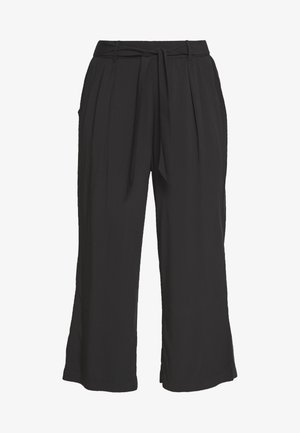 MIX & MATCH HIGH WAIST CROPPED TROUSERS - Pantaloni del pigiama - black