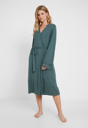 AMOURETTE CHARM ROBE LONG - Badjas - smoky green