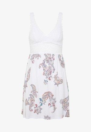 AMOURETTE SPOTLIGHT PRINT - Koszula nocna - white dark combination
