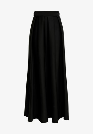 TRUE VIOLET LABEL PUFF SKIRT - Maxiskjørt - black