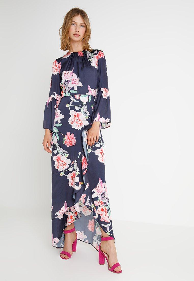 True Violet - WATERFALL FRILL DRESS - Vestido largo - navy