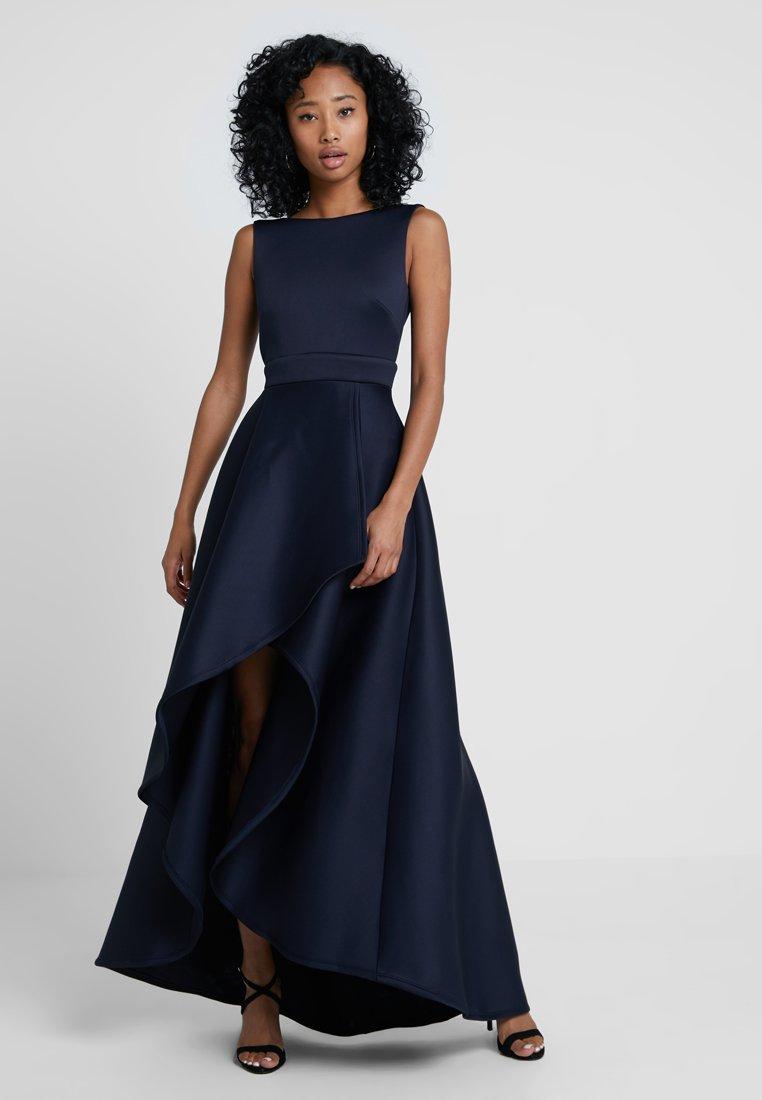 True Violet - HIGH LOW MAXI DRESS WITH BOW BACK - Abito da sera - navy