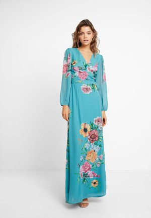 WRAP WITH SLEEVES DRESS - Occasion wear - mint