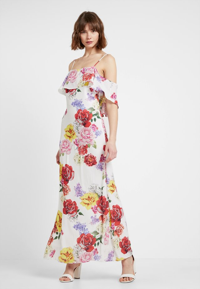 OFF THE SHOULDER FRILL DRESS - Maxi-jurk - multicoloured