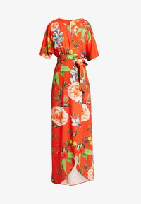 True Violet - TRUE KIMONO WRAP MAXIDRESS WITH BELT - Maxi-jurk - red - 5