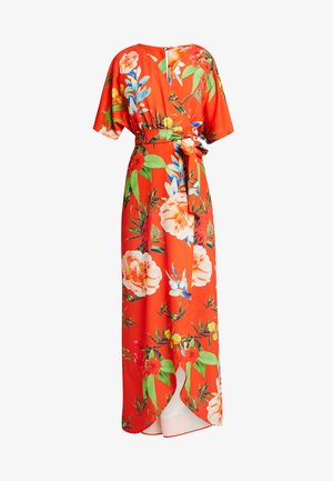 TRUE KIMONO WRAP MAXIDRESS WITH BELT - Maxikjole - red