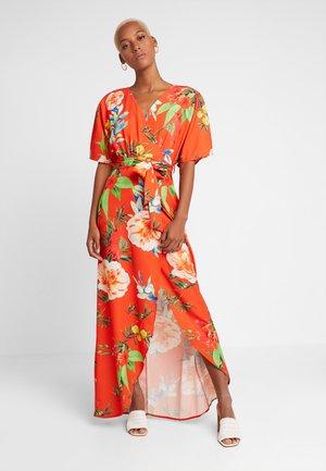 TRUE KIMONO WRAP MAXIDRESS WITH BELT - Maxi šaty - red