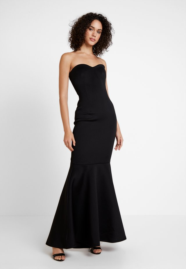 LABEL SWEETHEART MAXI DRESS - Galajurk - black