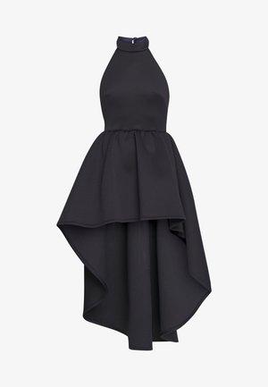 HALTER NECK HIGH LOW DRESS - Koktejlové šaty/ šaty na párty - blue