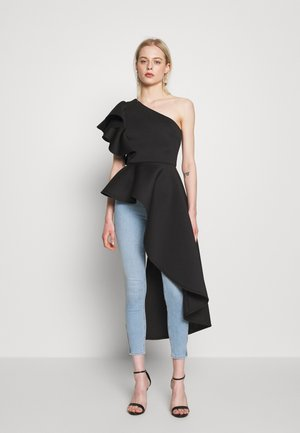 TRUE VIOLET ONE SHOULDER FRILL - Top - black