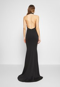 True Violet - HALTERNECK GOWN WITH FISHTAIL HEM - Abito da sera - black - 2
