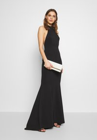 True Violet - HALTERNECK GOWN WITH FISHTAIL HEM - Abito da sera - black - 1