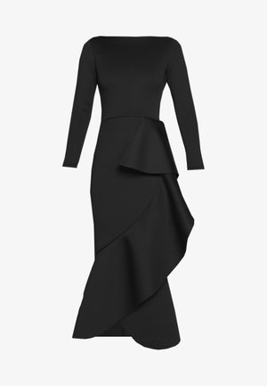 TRUE LONG SLEEVE FRILL DRESS - Ballkjole - black