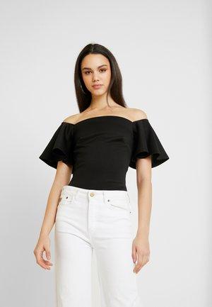 TRUE OFF SHOULDER BODYSUIT - Print T-shirt - black