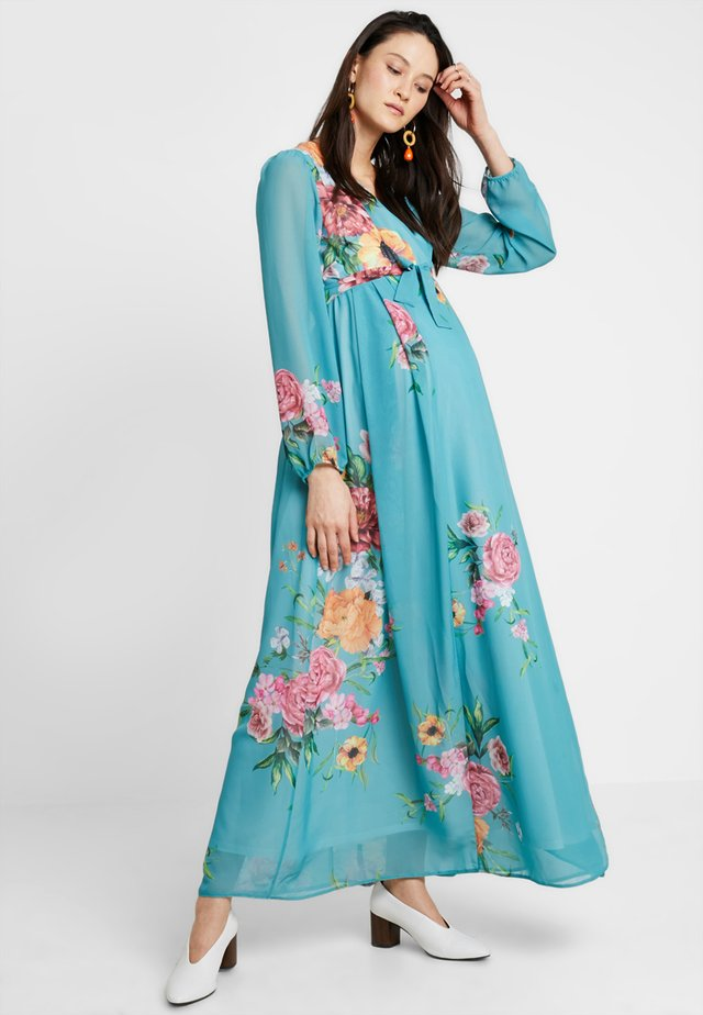 TRUE WRAP MAXI WITH SLEEVES DRESS - Maxi-jurk - mint