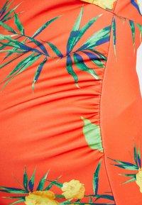 True Violet - HIGH NECK BODYCON DRESS - Etuikjole - orange - 5