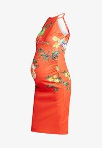 True Violet - HIGH NECK BODYCON DRESS - Etuikjole - orange - 4