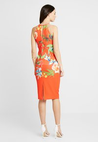 True Violet - HIGH NECK BODYCON DRESS - Kotelomekko - orange - 2
