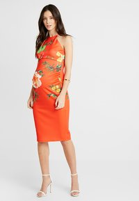 True Violet - HIGH NECK BODYCON DRESS - Kotelomekko - orange - 0